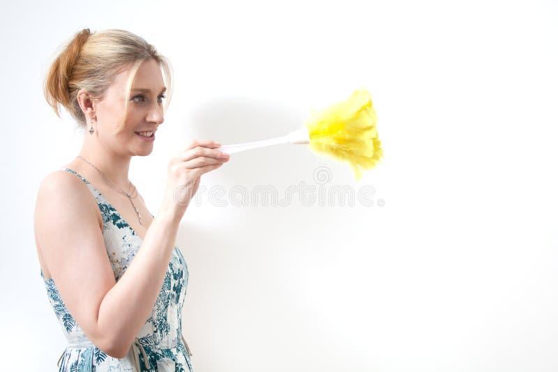 женщина припудривания стоковое изображение