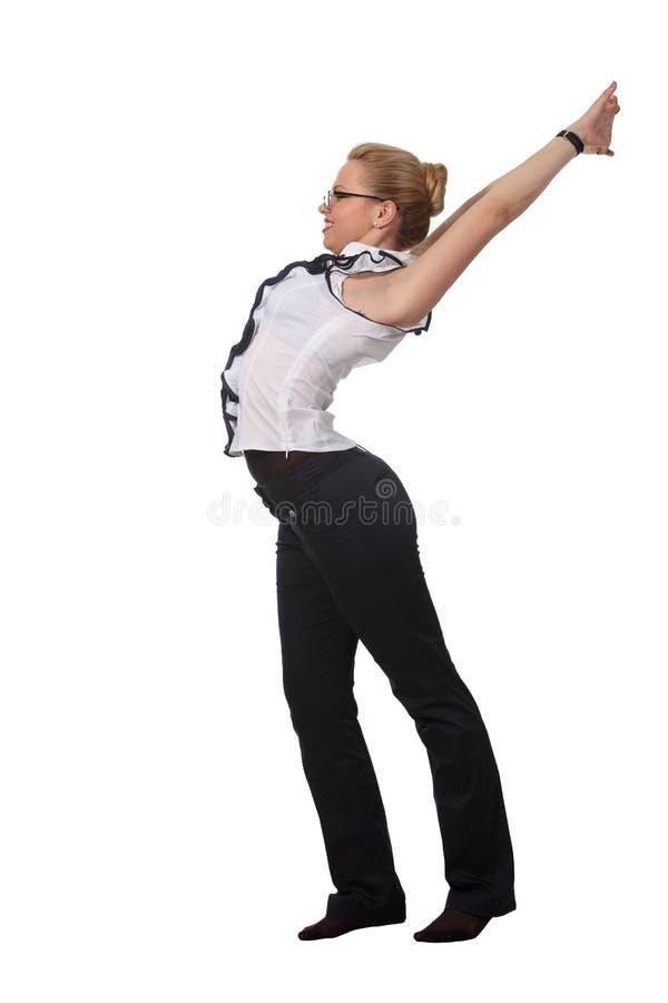 женщина простирания стоковая фотография