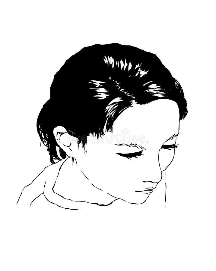 женщина профиля s стоковые изображения rf