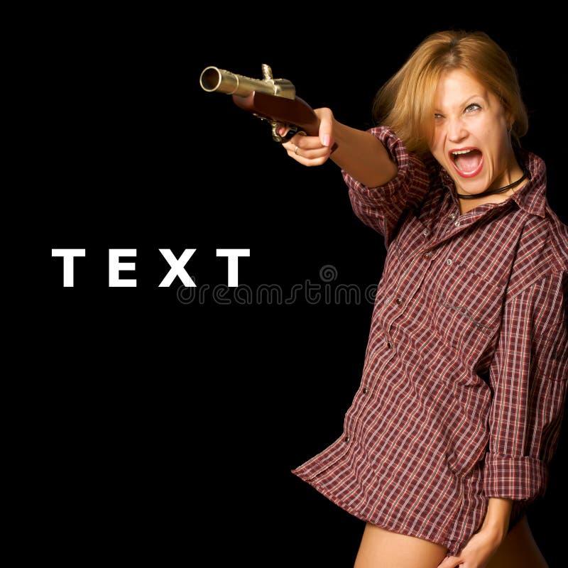 женщина пушки стоковая фотография