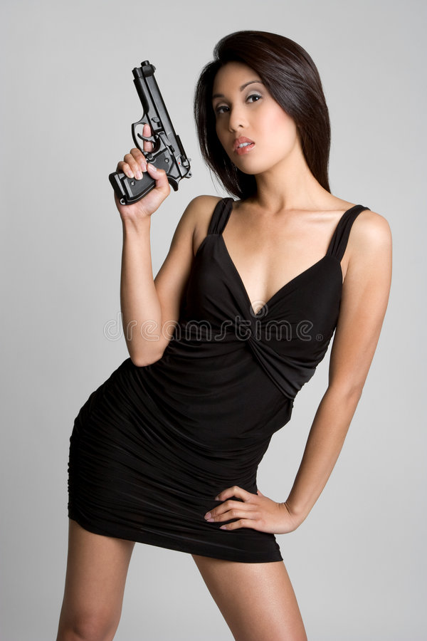 женщина пушки стоковое изображение