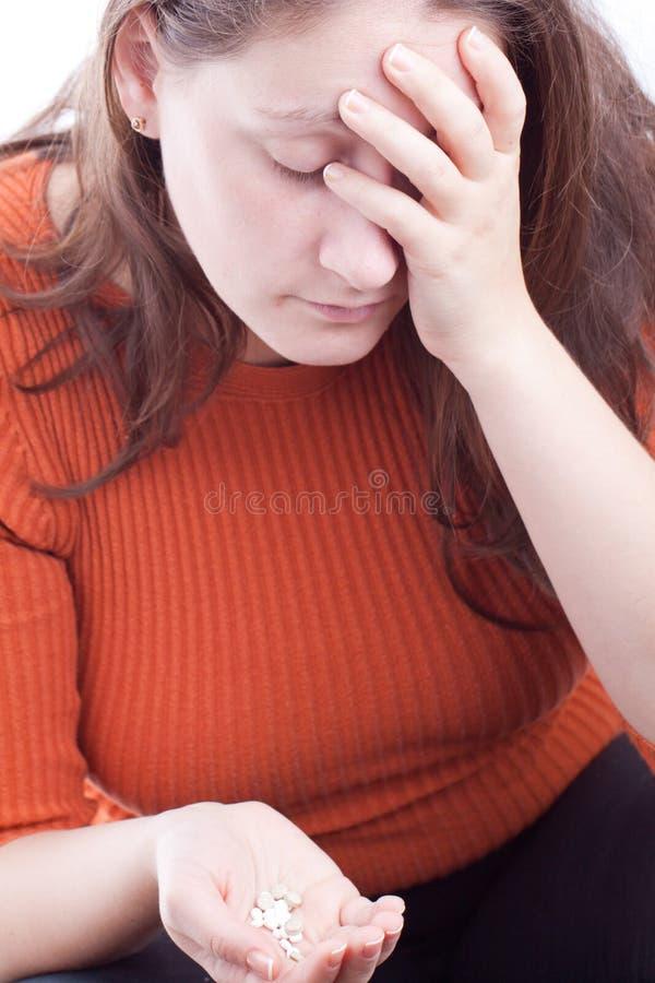 Женщина пытая суицид стоковое фото rf
