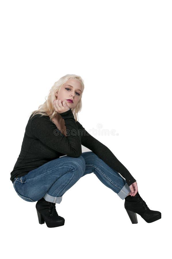 женщина пяток высокая стоковое изображение