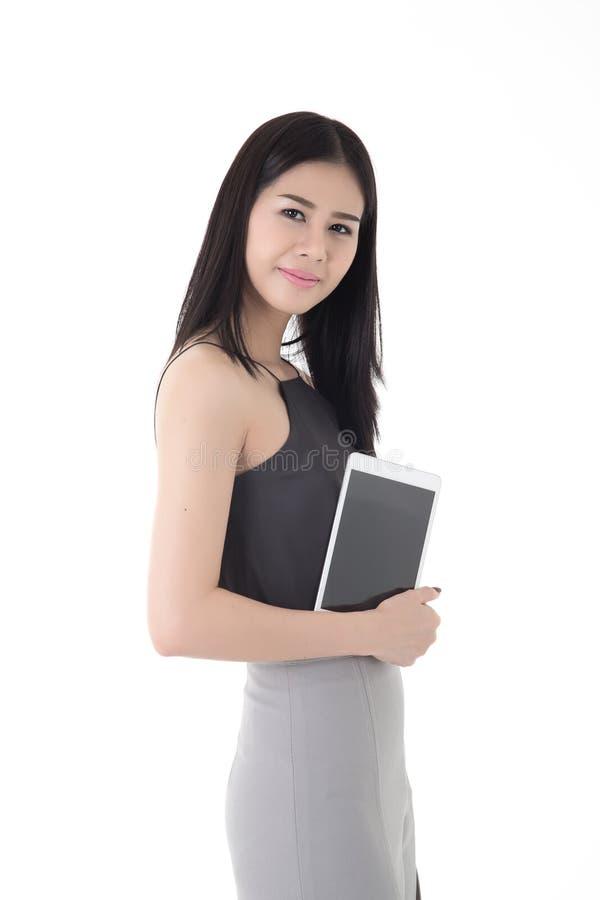 Женщина планшета стоковое изображение