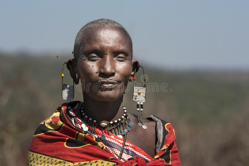 Женщина племени Massai в Танзании стоковые изображения