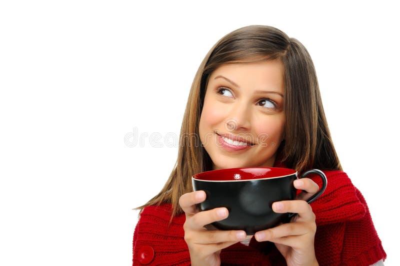 женщина рождества праздничная счастливая стоковое фото rf