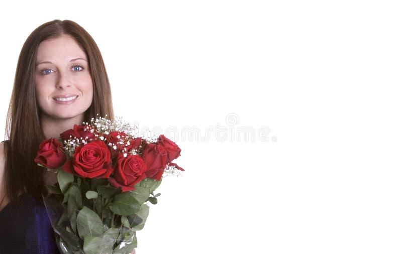 женщина роз стоковое изображение