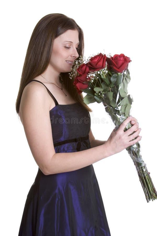 женщина роз стоковая фотография rf