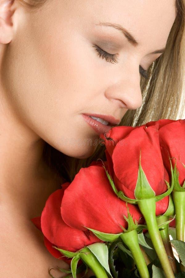 женщина роз стоковые изображения rf