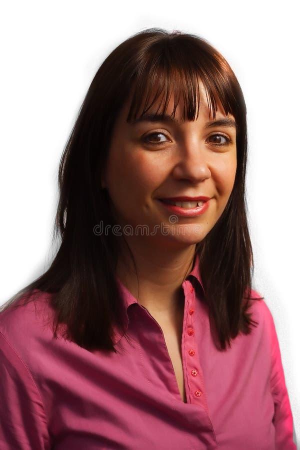 женщина рубашки fushia стоковое фото rf