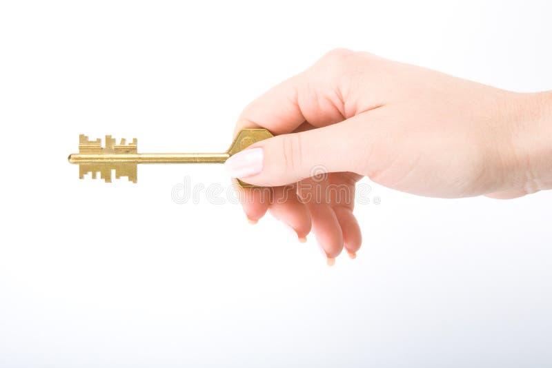женщина руки ключевая s стоковые фотографии rf