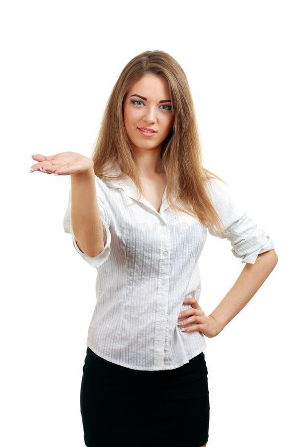 женщина руки открытая показывая стоковое фото