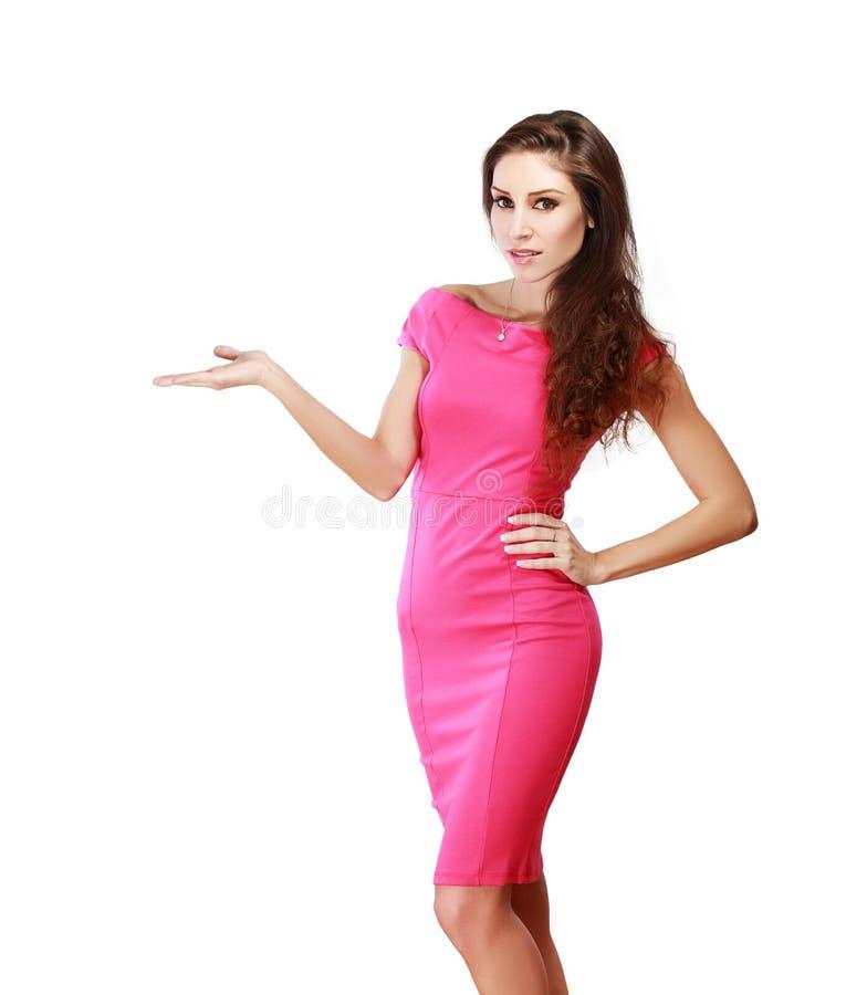 женщина руки открытая показывая стоковое изображение