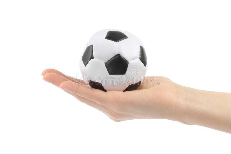 женщина руки футбола стоковая фотография rf