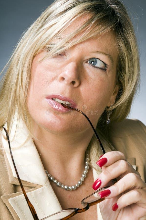 женщина руководителя бизнеса старая старшая стоковая фотография rf