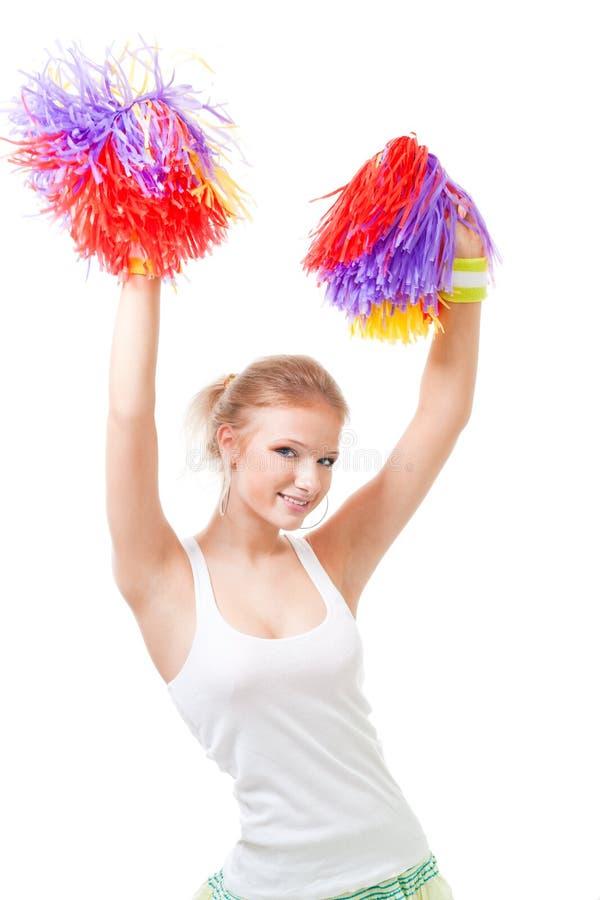 женщина руководителя танцы cheer стоковое изображение
