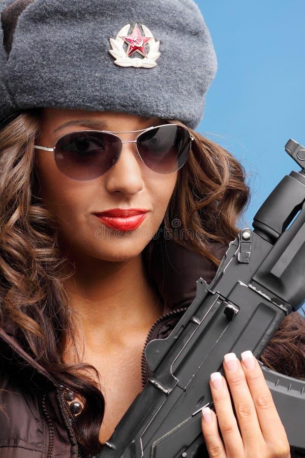 женщина русского винтовки стоковые изображения rf