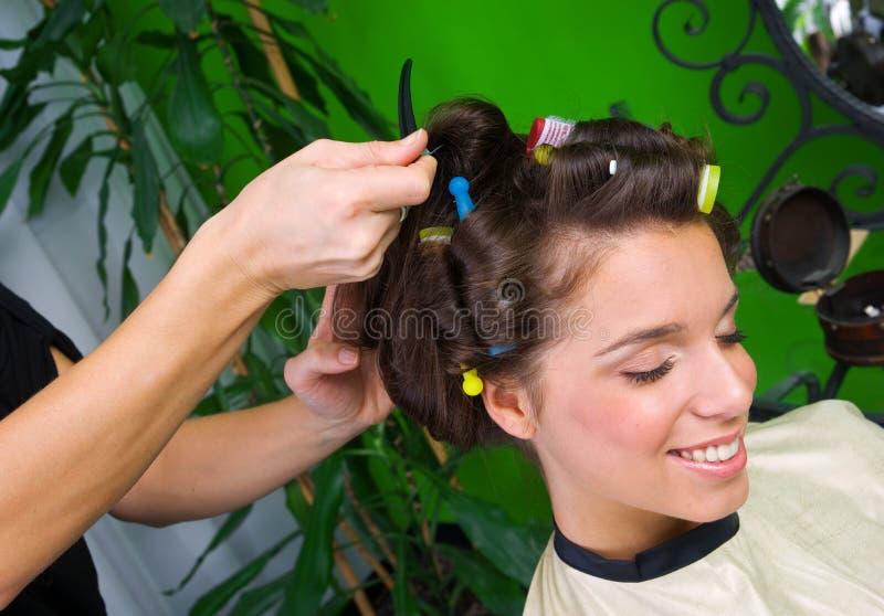 женщина салона волос стоковое изображение
