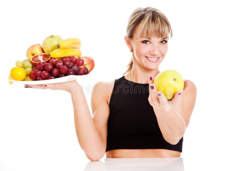 женщина свежих овощей стоковые изображения rf