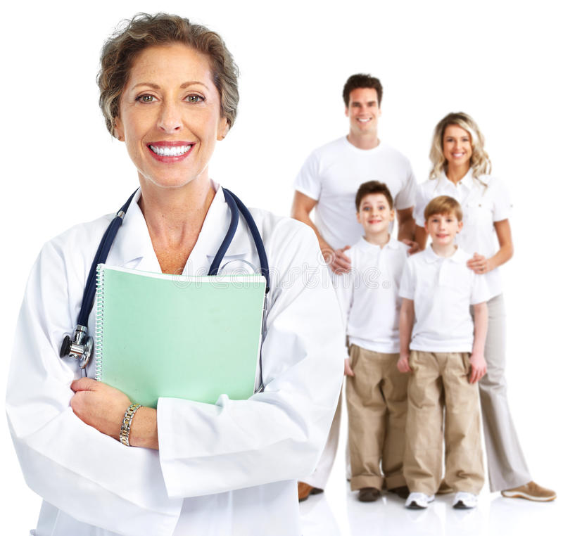 Женщина семейного врача стоковое фото rf
