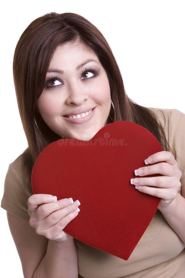 женщина сердца стоковые фотографии rf