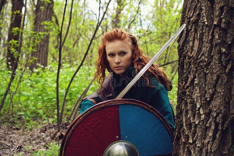 Женщина скандинава Redhead стоковая фотография rf