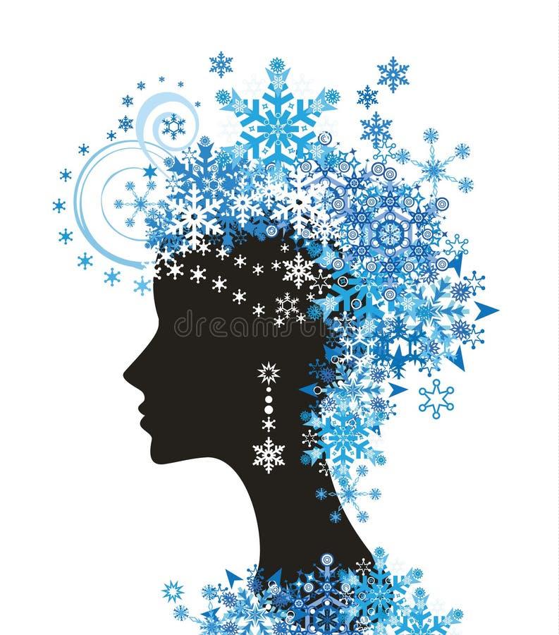 женщина снежинок иллюстрация вектора
