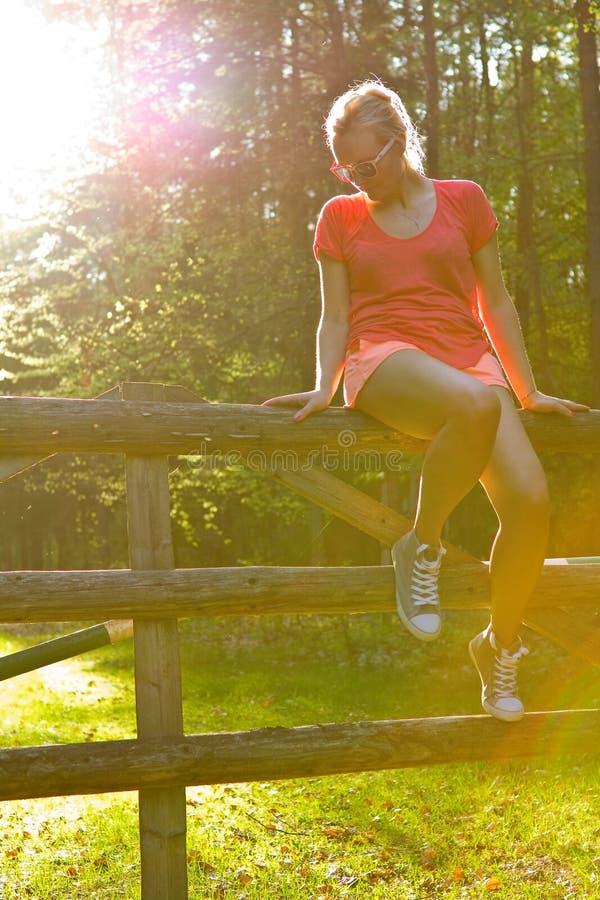 женщина солнца стоковая фотография