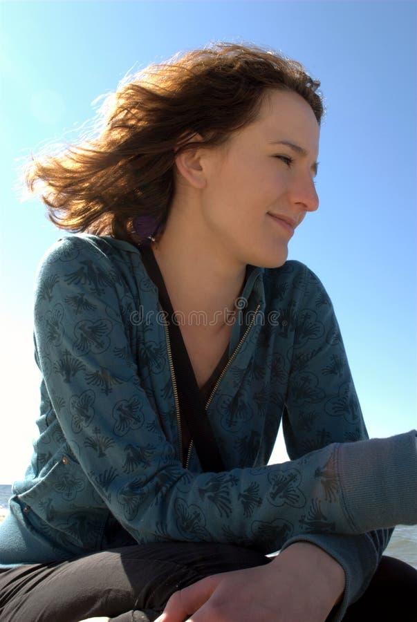 женщина солнца стоковая фотография rf
