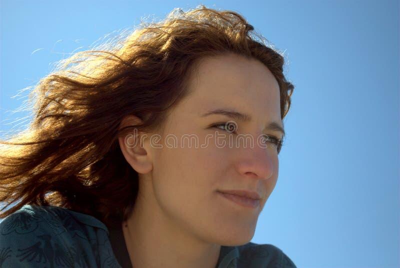 женщина солнца стоковое изображение