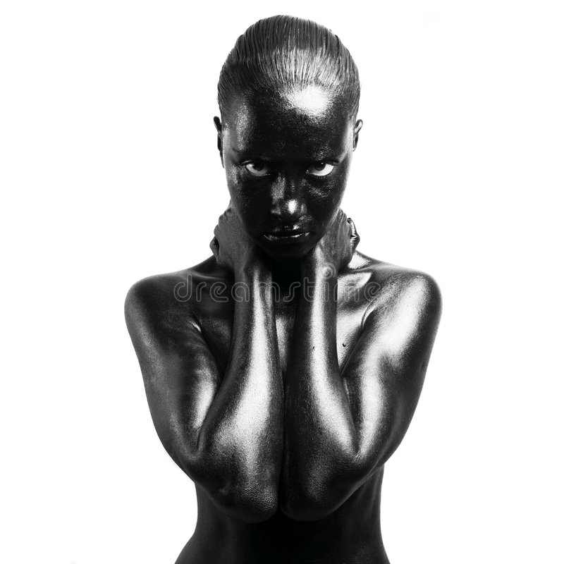 женщина составленная чернотой стоковое изображение