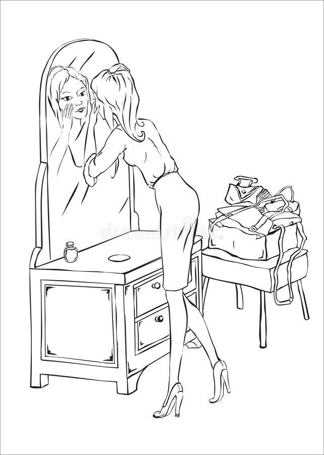 Женщина составляет стоковые изображения rf