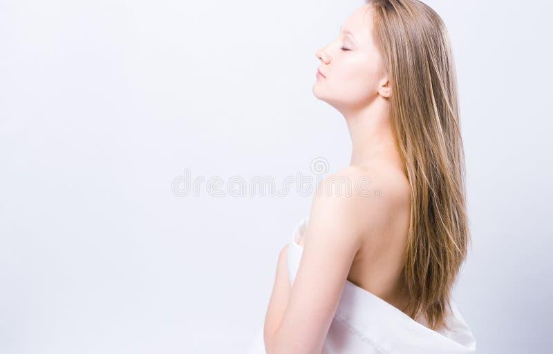 женщина спы портрета стоковая фотография