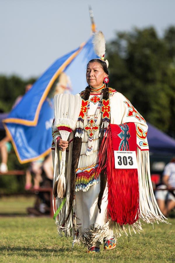 Женщина старшего Shawnee индийская на Плен-вау стоковое изображение rf