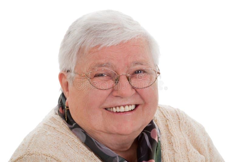женщина старшия портрета формы горизонтальная стоковое изображение rf