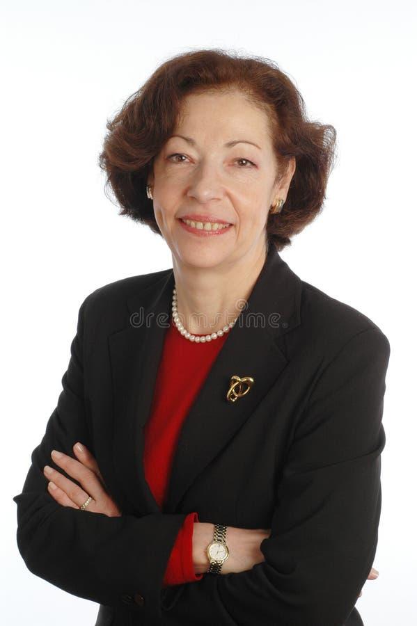 женщина старшия управляющего корпорации стоковое изображение