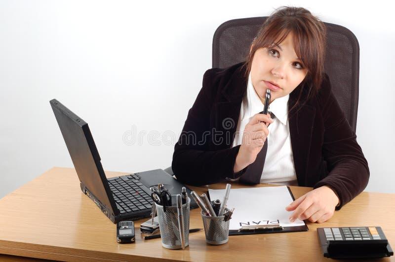 женщина стола 11 дела стоковые фото