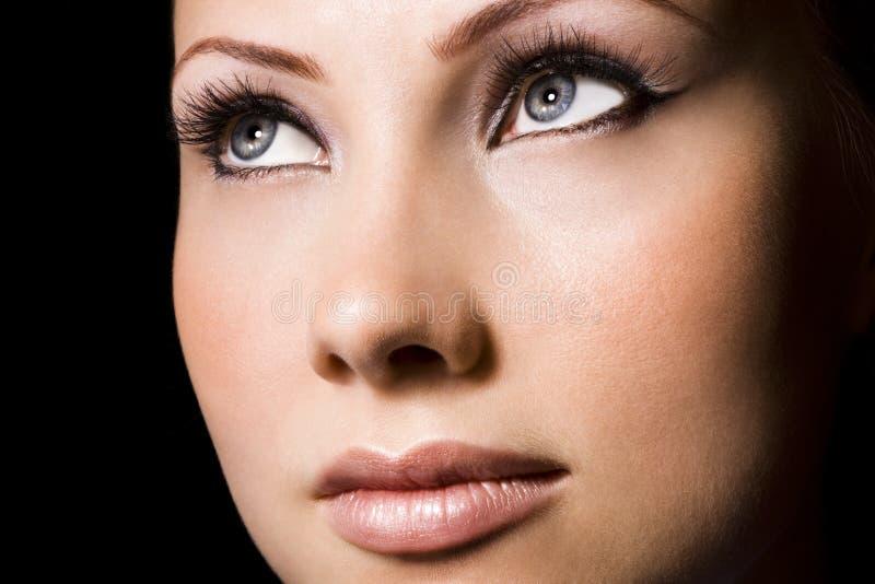 женщина стороны стоковое изображение rf