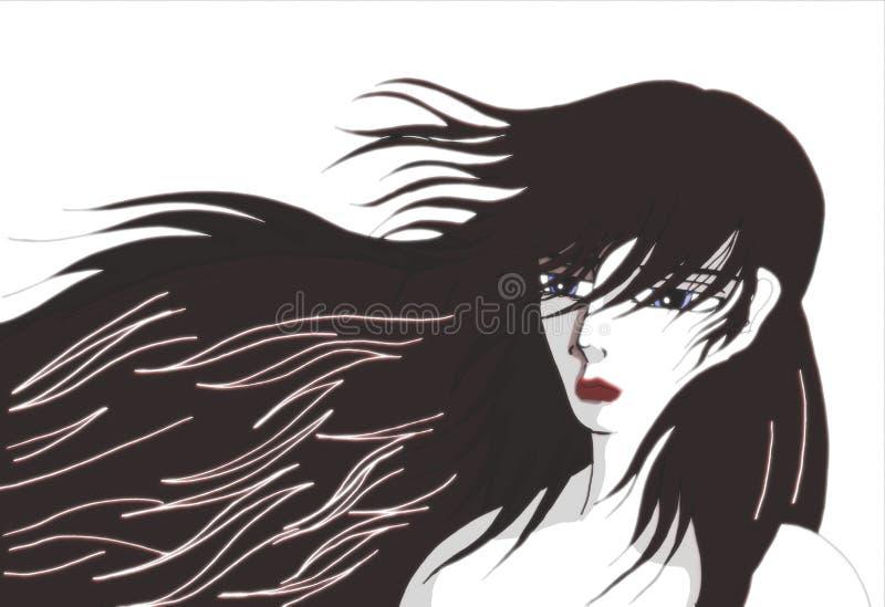 женщина стороны s иллюстрация штока