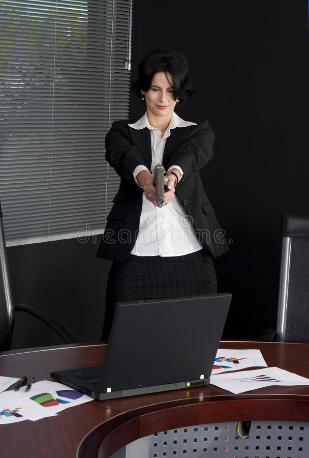 женщина стрельбы дела стоковое изображение rf
