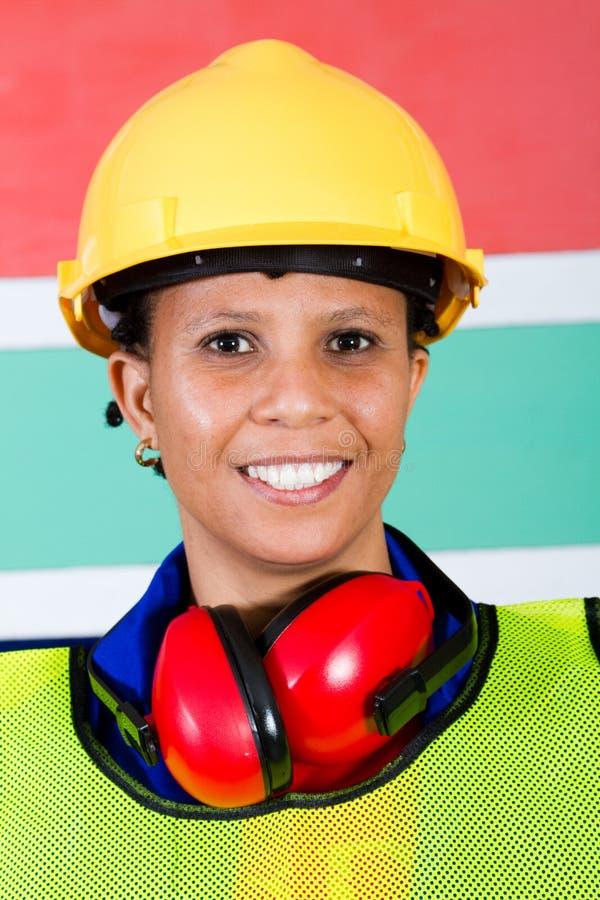 женщина строителя стоковая фотография