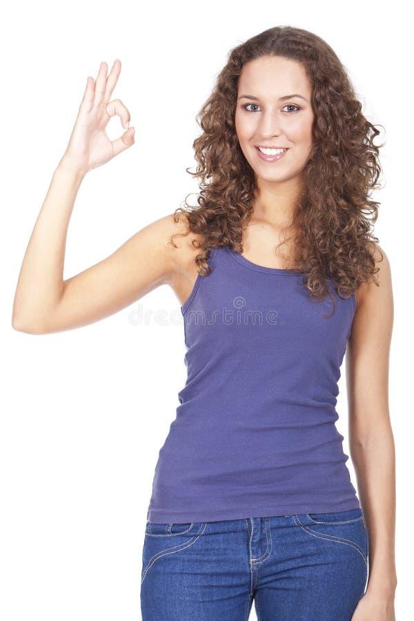 Женщина с активными выражениями стоковое фото rf
