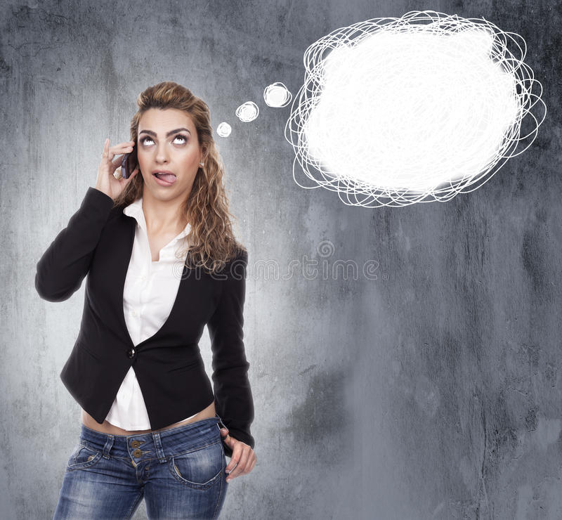 Download Женщина с активными выражениями Стоковое Изображение - изображение насчитывающей одно, персона: 41656377