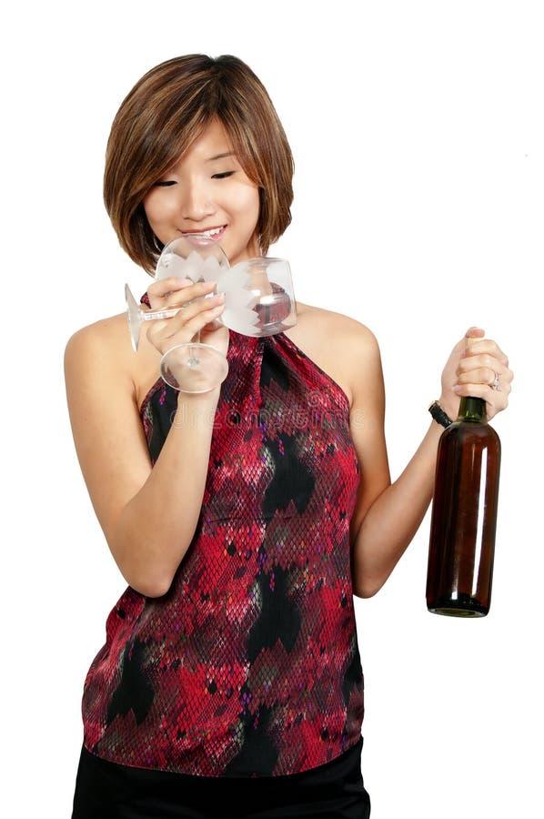 Женщина с вином стоковое фото rf