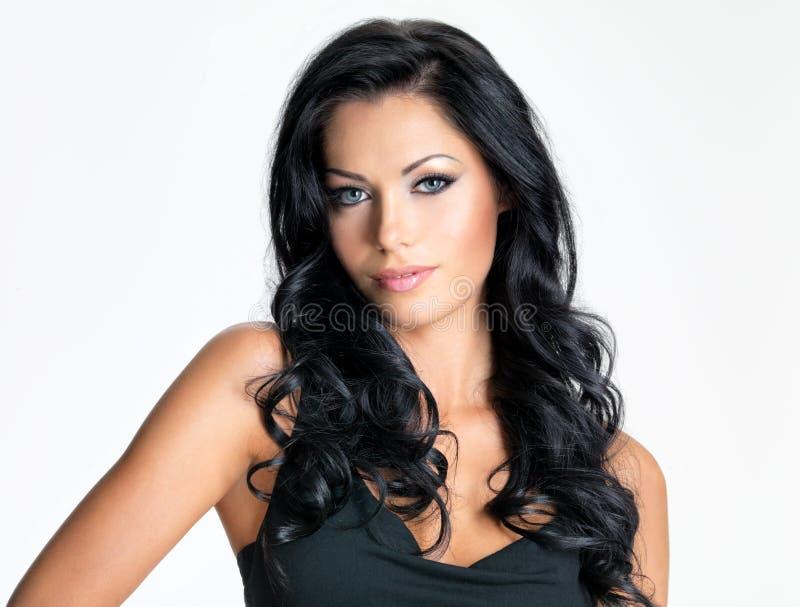 Женщина с волосами красоты длинними стоковые фото