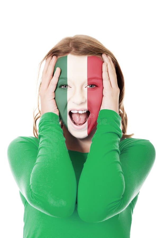 Женщина с мексиканським флагом на стороне стоковые фото