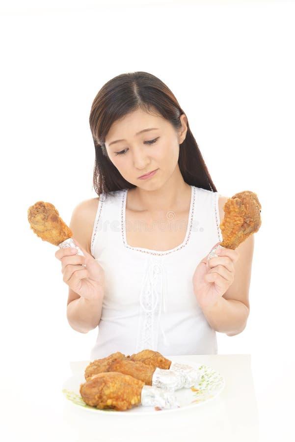 Женщина на диете стоковые изображения