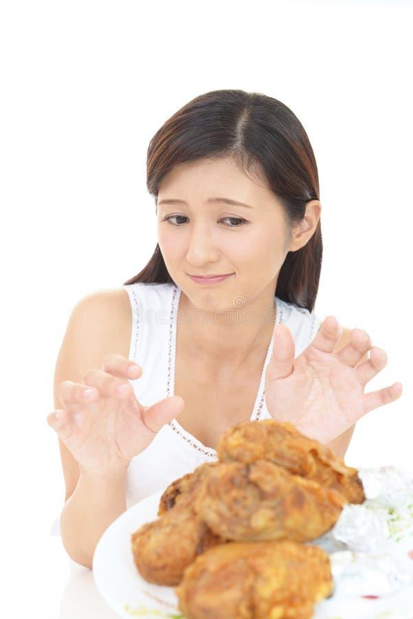 Женщина на диете стоковое фото rf