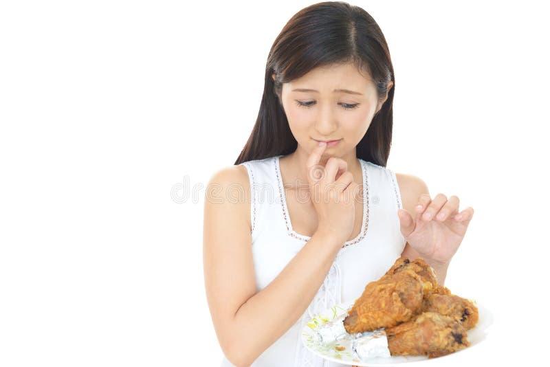 Женщина на диете стоковая фотография