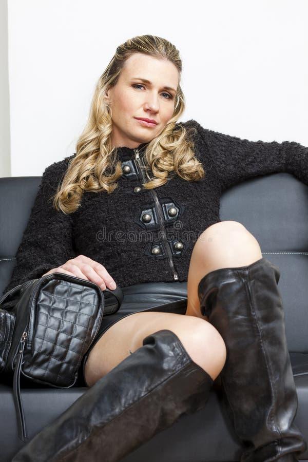 Женщина с сумкой Стоковая Фотография RF